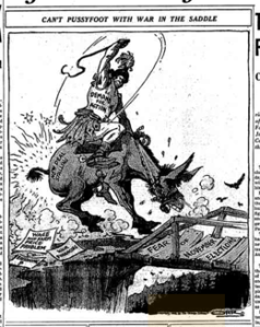 Even Democrats were getting skittish. Front page editorial cartoon