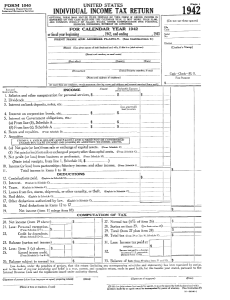 First page 1942 Tax form