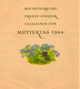 German Mothers Day card